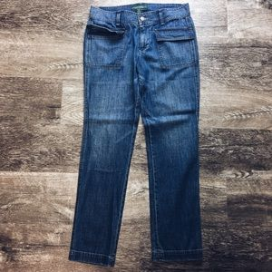 Ralph Lauren front flap pocket straight leg jeans